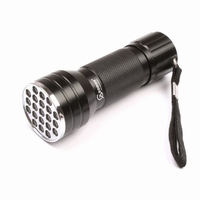 LED UV Zaklamp 21 led's