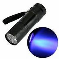 LED UV Zaklamp 9-led's