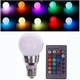 RGB Led lamp + afstand bed. E27 10W.